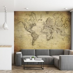 Mural de parede Mapa mundo