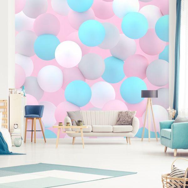 Mural de parede com balões