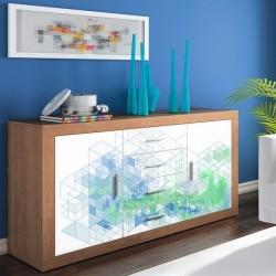 Vinil para cómodas cubos 3D