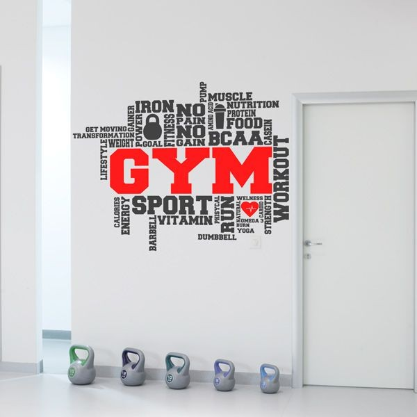 Vinil frases para Gym