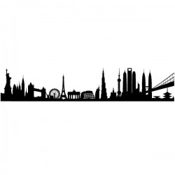 Vinil skyline cidades