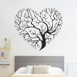 Vinil árvore coração
