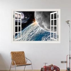 Janela decorativa planetas