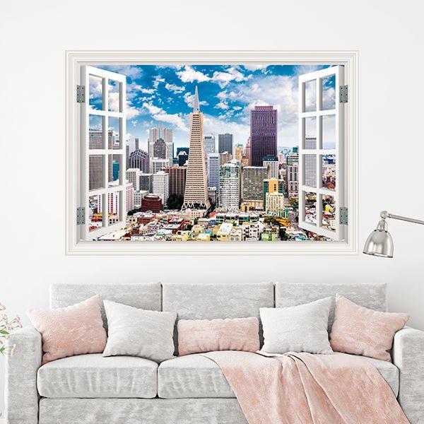 Autocolante janela falsa de San Francisco