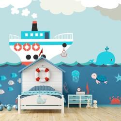 Mural animais marinhos...