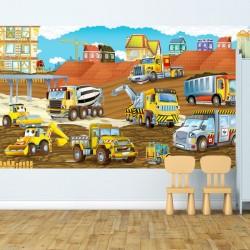 Mural de parede construção...