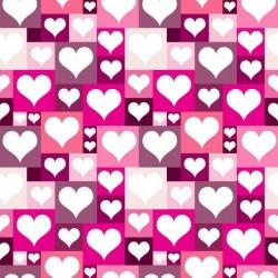 Vinil para armários corações 2