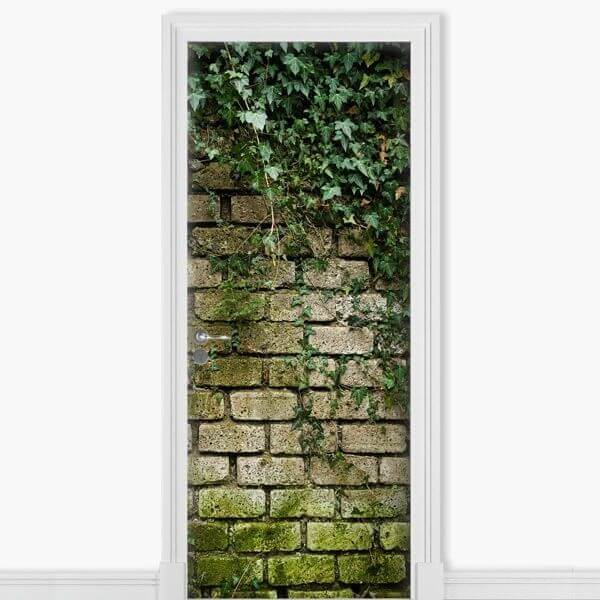 Vinil decorativo porta de parede