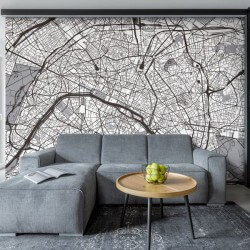 Mural decorativo mapa de Paris