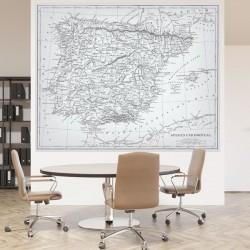 Vinil mapa Portugal Espanha