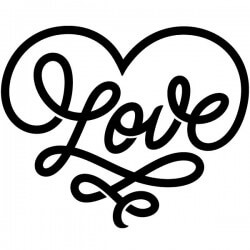 Vinil frase Love