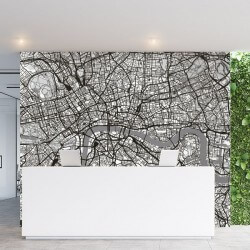 Mural decorativo mapa de...