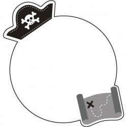 Quadro em vinil mapa Pirata