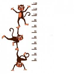 Vinil medidor infantil macacos