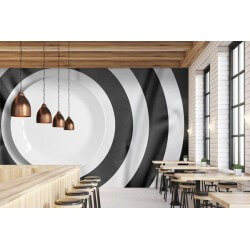 Mural decorativo prato branco