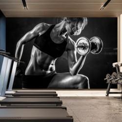 Mural mulher desportista
