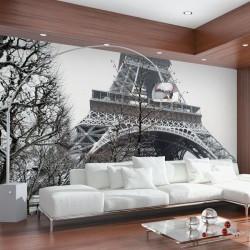 Mural Torre Eiffel de branco