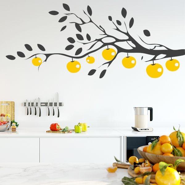 Autocolante árvore com fruto