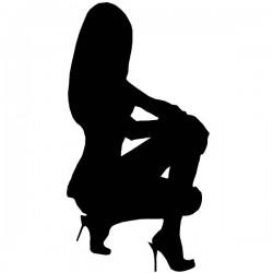 Silhueta de mulher sexy