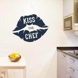 Autocolante beija a chef