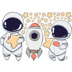 Vinil ilustração de astronautas