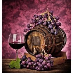 Papel pintado barril de vinho