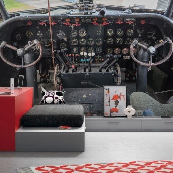 Mural de parede cockpit avião