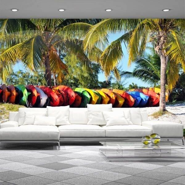 Papel pintado palmeiras 3