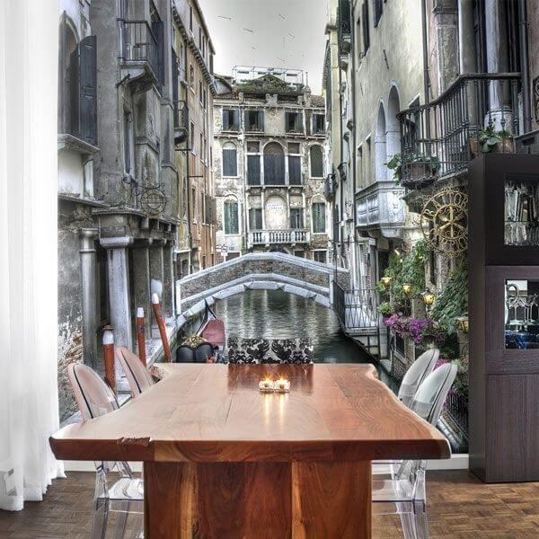 Foto mural canais de Veneza 2