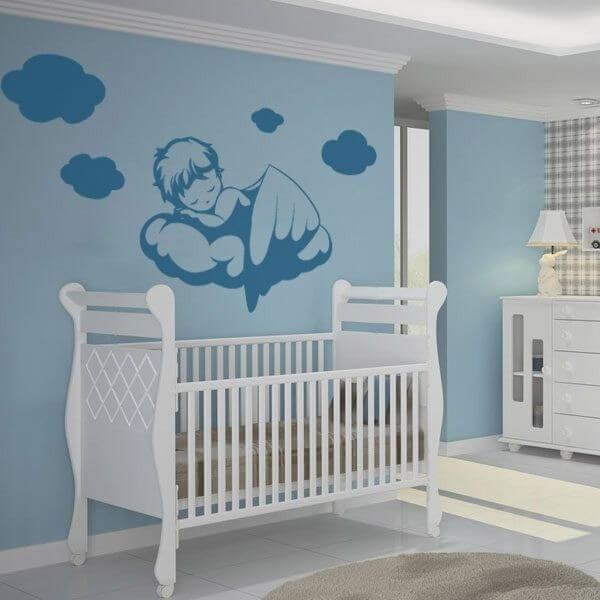 Adesivo Olhinhos Dormindo ~ Adesivo criança dormindo Vinil para quarto de bebé