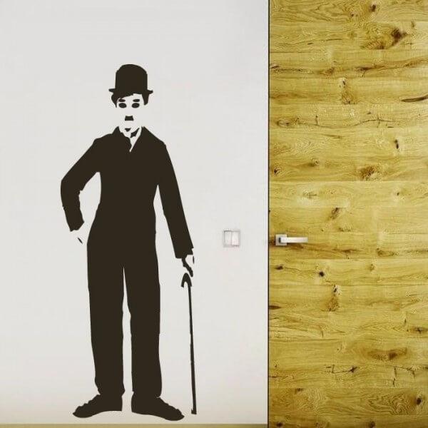 Vinil de parede Charles Chaplin