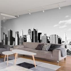 Mural Nova York em preto e...