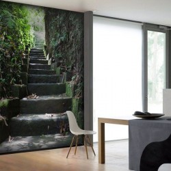 Papel pintado escadas
