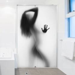 Vinil mulher no chuveiro