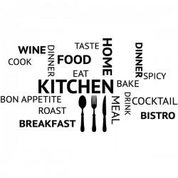Autocolante frases de cozinha