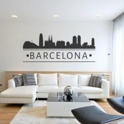 Autocolante skyline Barcelona