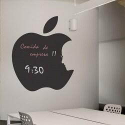 Vinil lousa maçã Steve Jobs