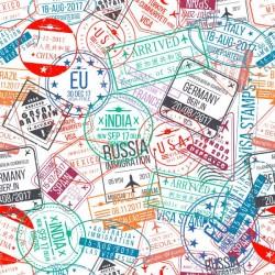 Vinil mesa selos de cidades