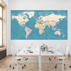 Papel pintado mapa mundo retro