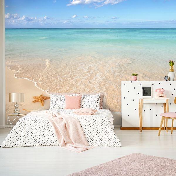 Mural praia e estrela do mar