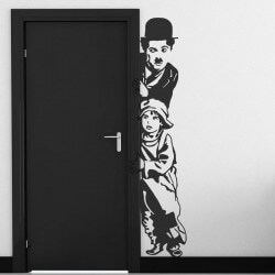 Adesivo de Charles Chaplin 1