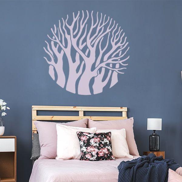 Autocolante árvores em círculo