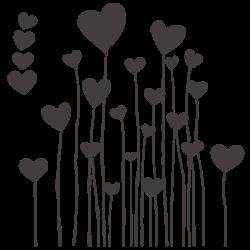 Vinil infantil corações 3