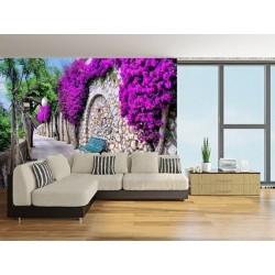 Mural parede com flores