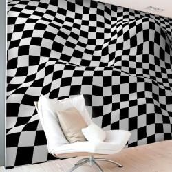 Vinil de parede quadrados 3D