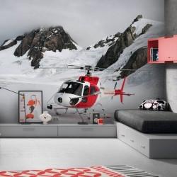 Papel pintado helicóptero