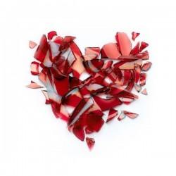 Papel de parede coração de vidro