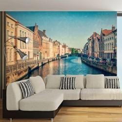 Papel pintado canais de Veneza