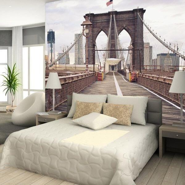 Mural de parede ponte de Brooklyn