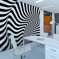 Papel pintado riscas 3D